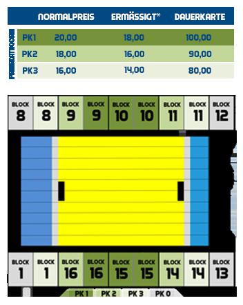 Ticketpreise und Saalplan VVK